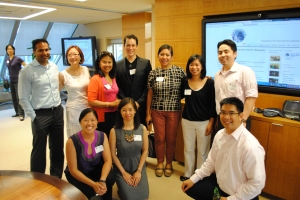 """Cherry Blossom Giving Circle members at """"3-2-1… AAPIP/DC Metro Giving Circles Happy Hour"""" on July 9, 2012"""