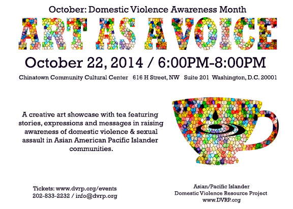 A/PI Domestic Violence Resource Project Art as a Voice event on October 22, 2014